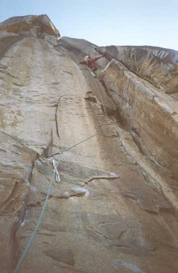 Aaron Martin leading up Pitch 6 of The Rostrum.