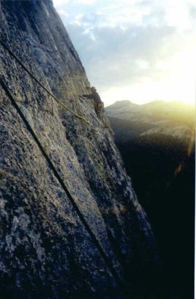 Leading the last pitch of the Regular Route.