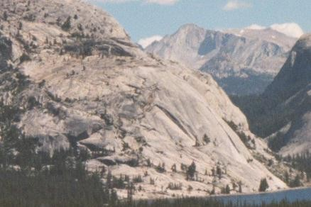 Stately Pleasure Dome above Tenaya Lake with Mt. Conness in the backgr...