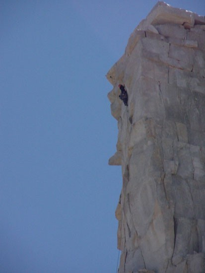 Climber on the last pitch.