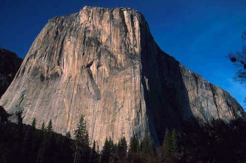 Sunset on the southwest face of El Capitan.