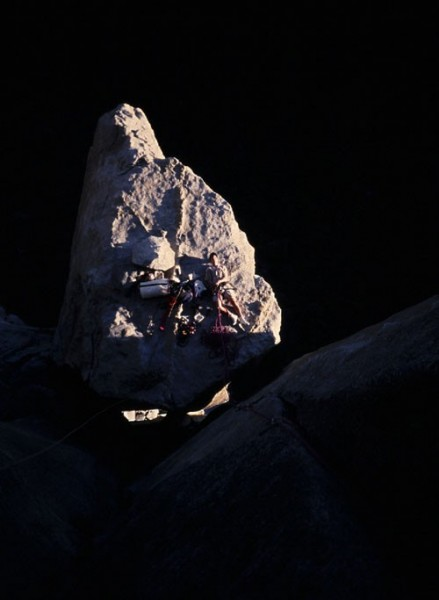 Morgan McNamara on El Cap Spire.