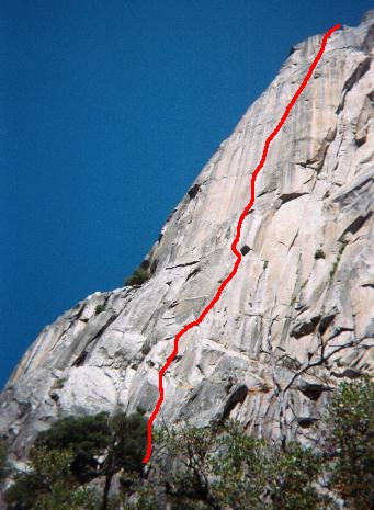 The route from the ground.