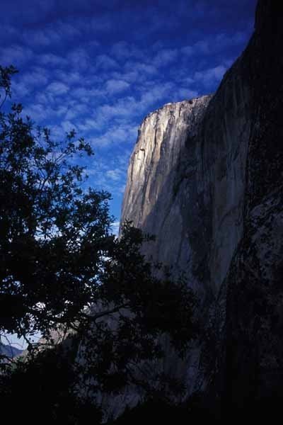 The early morning light high on El Capitan