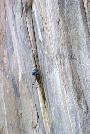 Mike Ousley mid-way on Pitch 1 - one of the steepest and most strenuou...