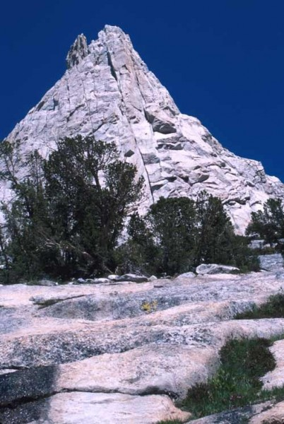 Eichorn's Pinnacle, the summit on the left. Southeast buttress of Cath...