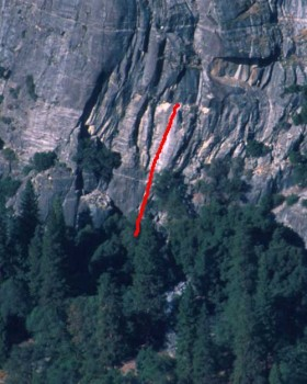 Church Bowl - Bishop's Terrace 5.8 - Yosemite Valley, California USA. Click to Enlarge
