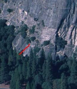 Church Bowl - Church Bowl Lieback 5.8 - Yosemite Valley, California USA. Click to Enlarge