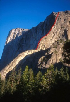 El Capitan - East Buttress 5.10b - Yosemite Valley, California USA. Click to Enlarge