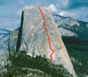 Half Dome - Snake Dike 5.7 R - Yosemite Valley, California USA. Click for details.