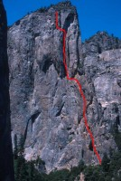 Higher Cathedral - Northeast Buttress 5.9 - Yosemite Valley, California USA. Click to Enlarge
