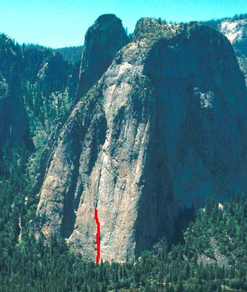 Central Pillar is considered one of the best climbs on Middle Cathedra...