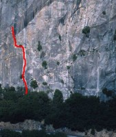 Reed's Pinnacle - Direct Route 5.10a - Yosemite Valley, California USA. Click to Enlarge