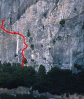 Reed's Pinnacle - Regular Route 5.9 - Yosemite Valley, California USA. Click to Enlarge