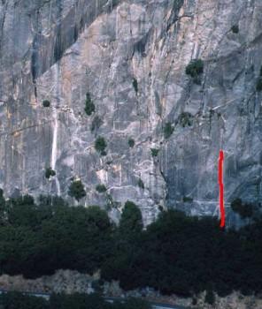 Reed's Pinnacle - Lunatic Fringe 5.10c - Yosemite Valley, California USA. Click to Enlarge