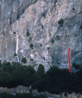 Reed's Pinnacle - Lunatic Fringe 5.10c - Yosemite Valley, California USA. Click to Enlarge
