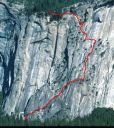 Royal Arches Area - Royal Arches 5.10b or 5.7 A0 - Yosemite Valley, California USA. Click for details.