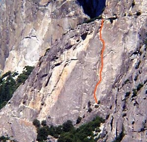 Schultz's Ridge - Moratorium 5.11b - Yosemite Valley, California USA. Click to Enlarge