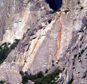 Schultz's Ridge - Moratorium 5.11b - Yosemite Valley, California USA. Click for details.