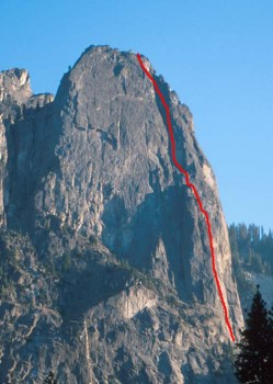 Sentinel Rock - Steck Salathe 5.9 - Yosemite Valley, California USA. Click to Enlarge