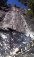 Sunnyside Bench - Bummer 5.10c - Yosemite Valley, California USA. Click to Enlarge