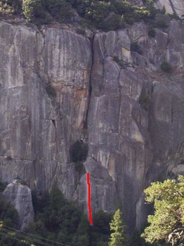The Cookie Cliff - Catchy 5.10d - Yosemite Valley, California USA. Click to Enlarge