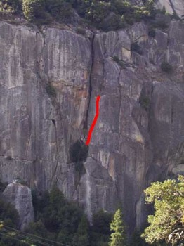 The Cookie Cliff - Catchy Corner 5.11a - Yosemite Valley, California USA. Click to Enlarge