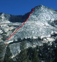 Tenaya Peak - Northwest Buttress 5.5 - Tuolumne Meadows, California USA. Click to Enlarge