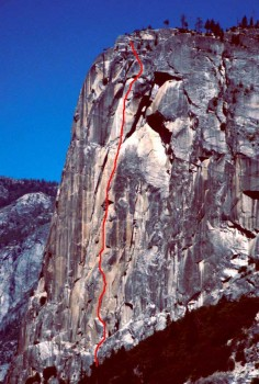 Washington Column - Astroman 5.11c - Yosemite Valley, California USA. Click to Enlarge