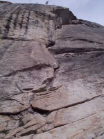 Daff Dome - Crescent Arch 5.10b - Tuolumne Meadows, California USA. Click to Enlarge