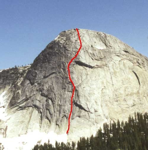 Fairview Dome is Tuolumne's largest steep face.