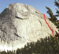 Fairview Dome - Lucky Streaks 5.10d - Tuolumne Meadows, California USA. Click to Enlarge