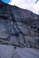 Low Profile Dome - Darth Vader's Revenge 5.10a - Tuolumne Meadows, California USA. Click to Enlarge