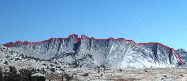 The Matthes Crest traverse starts at the south end (right) and...