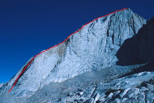 The West Ridge of Mt. Conness, one of Tuolumne's finest ridge climbs.