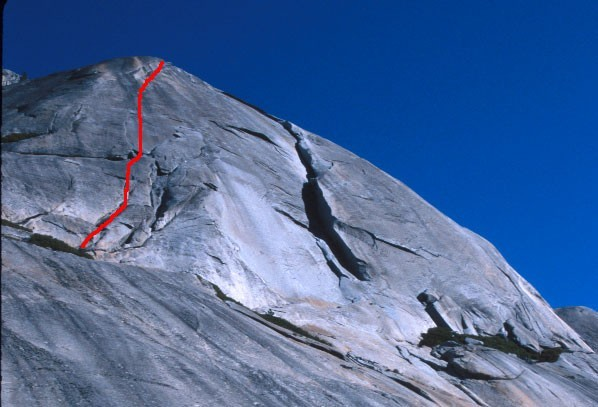 A great combination of crack and face climbing.