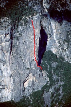 Washington Column - South Face C1 5.8 - Yosemite Valley, California USA. Click to Enlarge