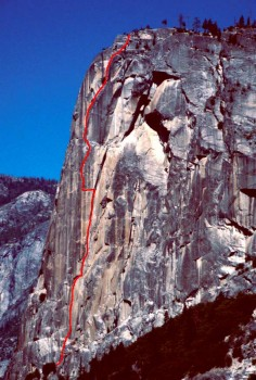 Washington Column - Ten Day's After A3 5.8 - Yosemite Valley, California USA. Click to Enlarge