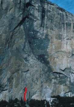 El Capitan - North America Wall Base 5.11 or C2 - Yosemite Valley, California USA. Click to Enlarge