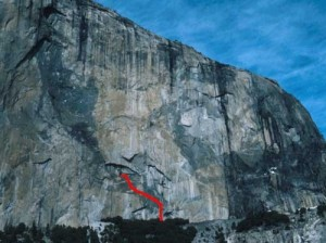 El Capitan - El Cap Tree 5.7 C2 - Yosemite Valley, California USA. Click to Enlarge