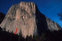 El Capitan - Dihedral Wall Base A1 or C2+ - Yosemite Valley, California USA. Click to Enlarge