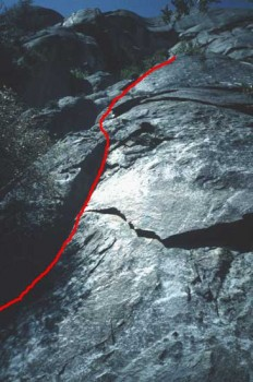 Reed's Pinnacle - Center Route (pitch 1) 5.7 - Yosemite Valley, California USA. Click to Enlarge