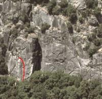 Pat and Jack Pinnacle - G-Man 5.11b - Yosemite Valley, California USA. Click to Enlarge