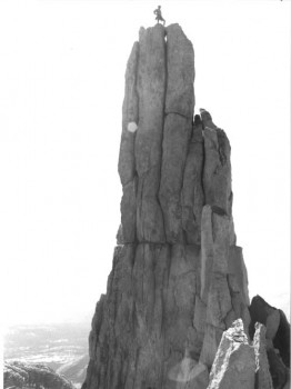 Eichorn's Pinnacle - North Face 5.4 - Tuolumne Meadows, California USA. Click to Enlarge