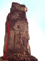 Castleton Tower - North Chimney 5.9 - Desert Towers, Utah, USA. Click to Enlarge