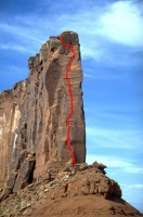 The Rectory - Fine Jade 5.11a - Desert Towers, Utah, USA. Click to Enlarge