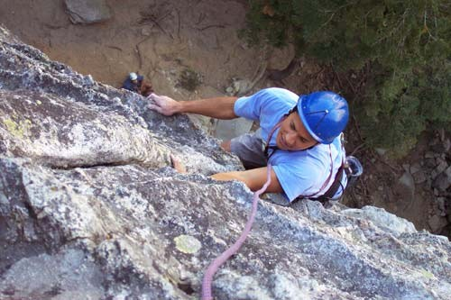 Brad Goya on the first pitch of Surrealistic Pillar.
