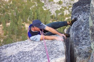 Todd Offenbacher pulls the 5.9 mantel on the last pitch variation.