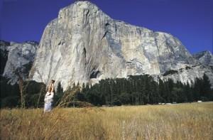 Erik Sloan alligning with El Cap via yoga.