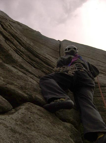 Brown's Crack, Bamford Edge. 5.7